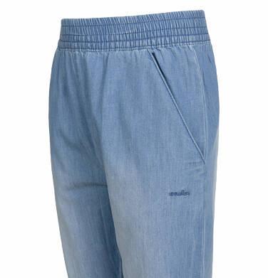 Endo - Spodnie jeansowe dla dziewczynki, luźny krój, z gumką w pasie i ściągaczami, 2-8 lat D03K051_3 6