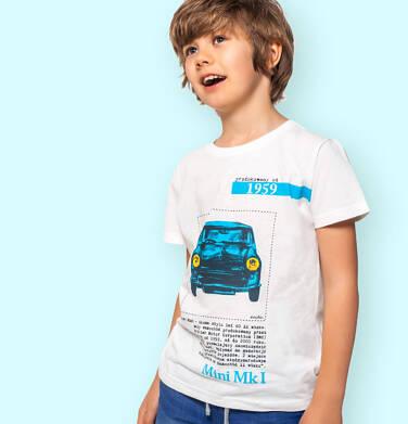 Endo - T-shirt z krótkim rękawem dla chłopca, z samochodem MINI 1959, kremowy, 9-13 lat C06G042_1 239