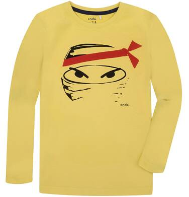 Endo - T-shirt z długim rękawem dla chłopca 3-8 lat C72G091_1