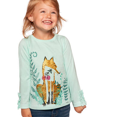 Endo - Bluzka z długim rękawem dla dziewczynki 3-8 lat D92G106_1