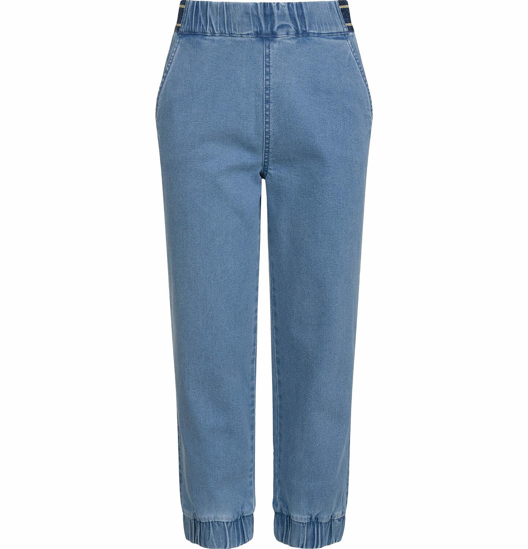 Endo - Spodnie jeansowe dla dziewczynki, joggery, ze ściągaczami u dołu, 2-8 lat D03K064_1