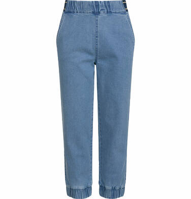 Endo - Spodnie jeansowe dla dziewczynki, joggery, ze ściągaczami u dołu, 2-8 lat D03K064_1 129