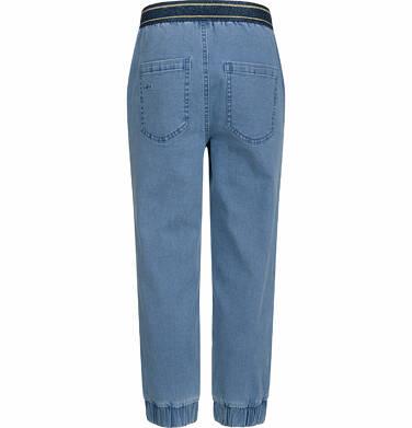 Endo - Spodnie jeansowe dla dziewczynki, joggery, ze ściągaczami u dołu, 2-8 lat D03K064_1,3