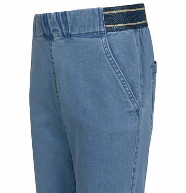 Endo - Spodnie jeansowe dla dziewczynki, joggery, ze ściągaczami u dołu, 2-8 lat D03K064_1,2