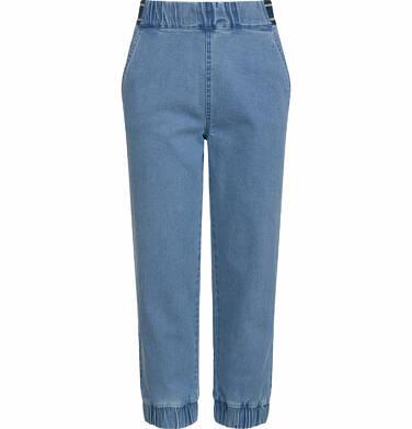 Endo - Spodnie jeansowe dla dziewczynki, joggery, ze ściągaczami u dołu, 9-13 lat D03K564_1