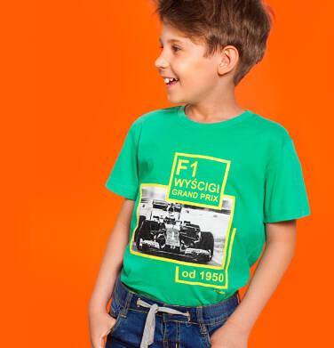 Endo - T-shirt z krótkim rękawem dla chłopca, z bolidem F1, zielony, 9-13 lat C06G044_1 237