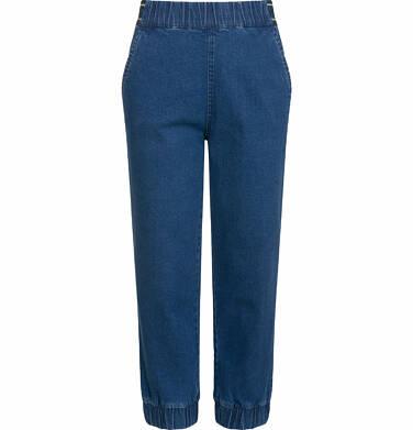 Endo - Spodnie jeansowe dla dziewczynki, joggery, ze ściągaczami u dołu, 2-8 lat D03K064_2 130