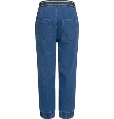 Endo - Spodnie jeansowe dla dziewczynki, joggery, ze ściągaczami u dołu, 2-8 lat D03K064_2,3