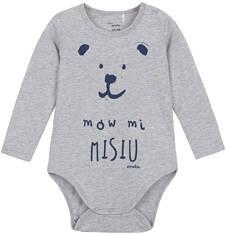 Body z długim rękawem dla niemowlaka N62M001_1