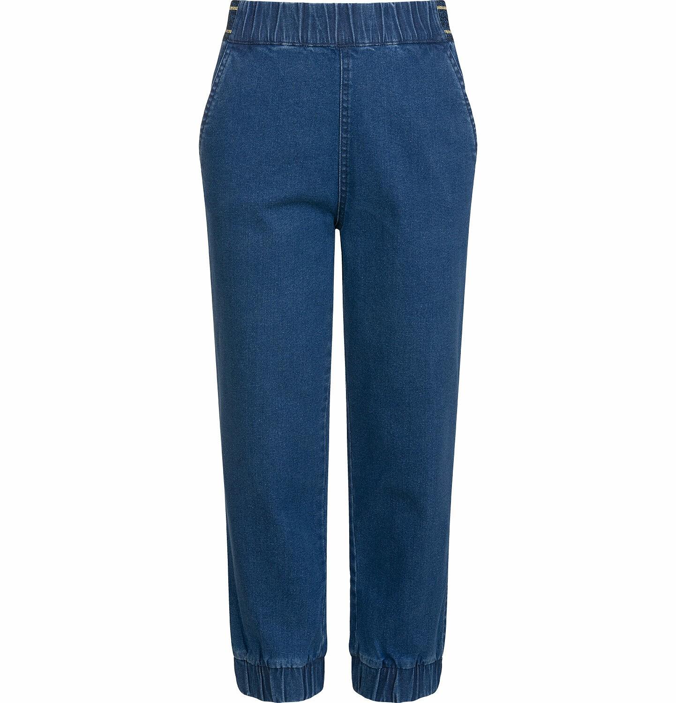 Endo - Spodnie jeansowe dla dziewczynki, joggery, ze ściągaczami u dołu, 9-13 lat D03K564_2