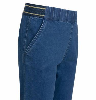 Endo - Spodnie jeansowe dla dziewczynki, joggery, ze ściągaczami u dołu, 9-13 lat D03K564_2,2