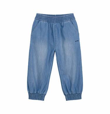 Endo - Spodnie jeansowe dla dziecka do 2 lat, luźny krój i ściągacze na nogawkach N03K041_1 30