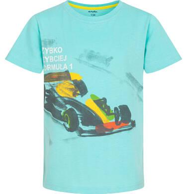Endo - T-shirt z krótkim rękawem dla chłopca, z bolidem F1, niebieski 9-13 lat C06G048_1 123