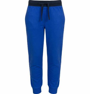 Endo - Spodnie dresowe dla chłopca, z kontrastowym ściągaczem w pasie, ciemnoniebieskie, 2-8 lat C03K022_2