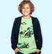 Endo - T-shirt z krótkim rękawem dla chłopca, z bolidami F1, zielony, 9-13 lat C06G050_1,1