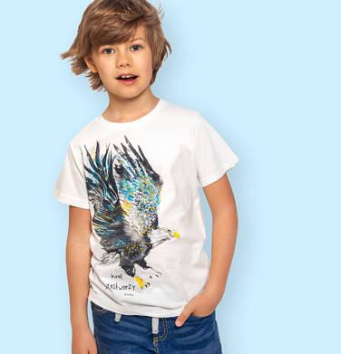 Endo - T-shirt z krótkim rękawem dla chłopca, z orłem, kremowy, 9-13 lat C06G082_1 227