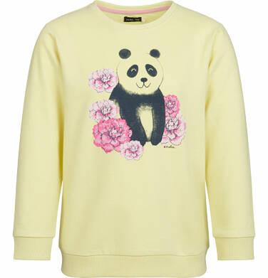Bluza dla dziewczynki, panda w kwiatach, żółta, 2-8 lat D03C003_1