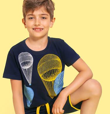 Endo - T-shirt z krótkim rękawem dla chłopca, z balonami, granatowy, 9-13 lat C06G052_2 231