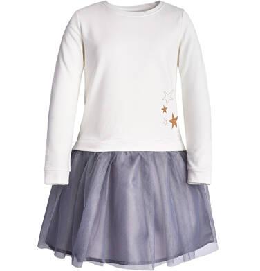 Sukienka z długim rękawem dla dziewczynki 3-8 lat D82H030_1