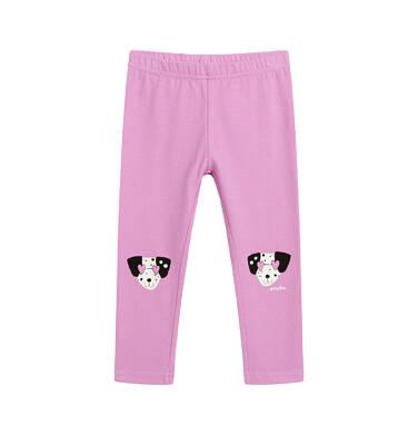 Endo - Legginsy dla dziecka do 2 lat, z psem w kropki, różowe N03K046_1 12