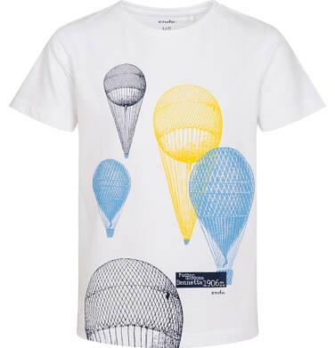 Endo - T-shirt z krótkim rękawem dla chłopca, z balonami, biały, 3-8 lat C06G066_1 36