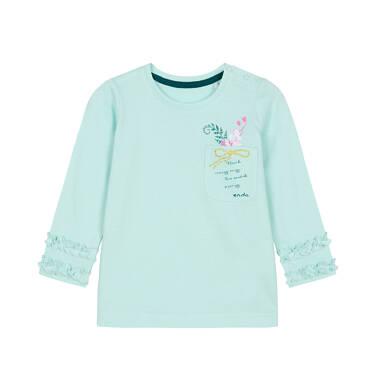 Endo - Bluzka z długim rękawem dla dziecka do 3 lat, z kieszonką, miętowa N92G107_2