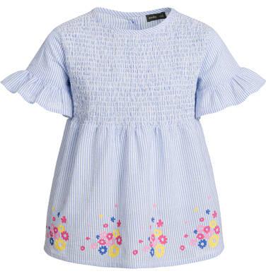 Endo - Bluzka koszulowa z krótkim rękawem dla dziewczynki, w paski, deseń w kwiaty, 9-13 lat D03F507_1 11