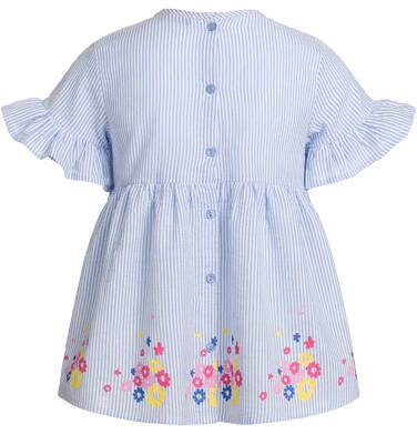 Endo - Bluzka koszulowa z krótkim rękawem dla dziewczynki, w paski, deseń w kwiaty, 9-13 lat D03F507_1,3