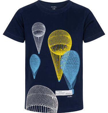 Endo - T-shirt z krótkim rękawem dla chłopca, z balonami, granatowy, 3-8 lat C06G066_2 42