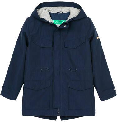 Przejściowa kurtka parka dla chłopca 3-8 lat, granatowa C91A001_1