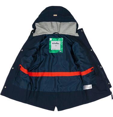 Endo - Przejściowa kurtka parka dla chłopca 9-13 lat, granatowa C91A501_1