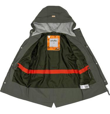 Endo - Przejściowa kurtka parka dla chłopca 3-8 lat, ciemnozielona C91A001_2