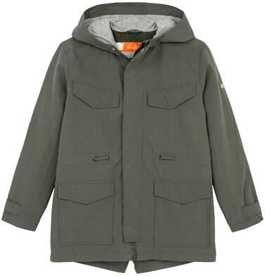 Endo - Przejściowa kurtka parka dla chłopca 9-13 lat, ciemnozielona C91A501_2