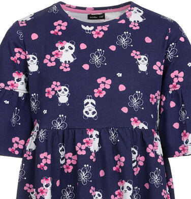 Endo - Sukienka z krótkim rękawem, deseń w pandy, rozszerzane rękawy, 2-8 lat D03H001_1 29