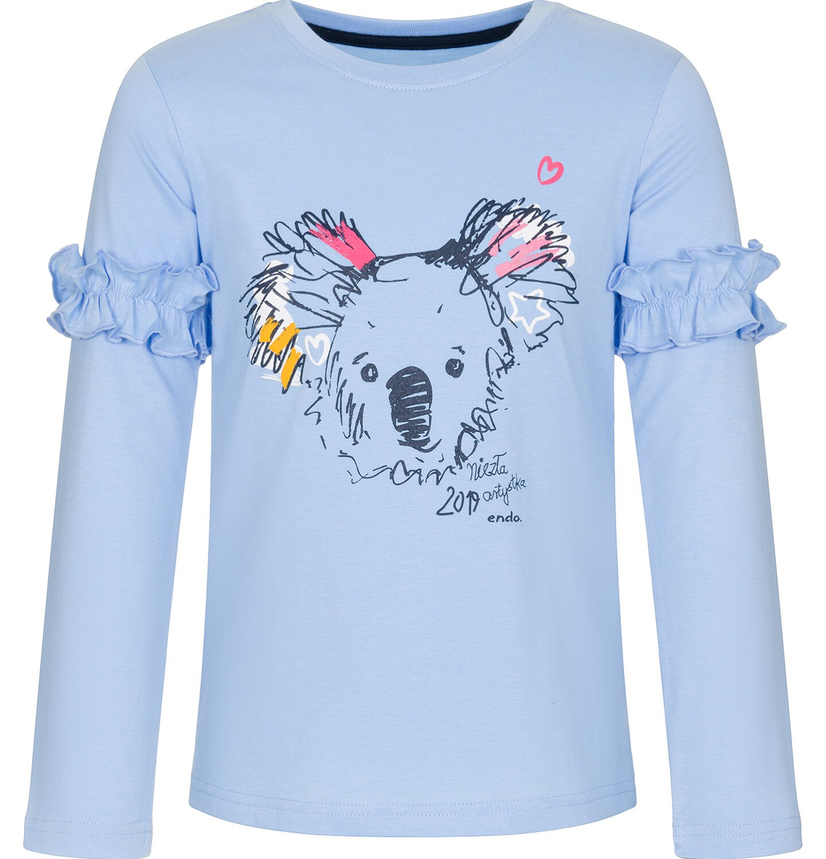 Endo - Bluzka z długim rękawem dla dziewczynki 3-8 lat D92G034_1