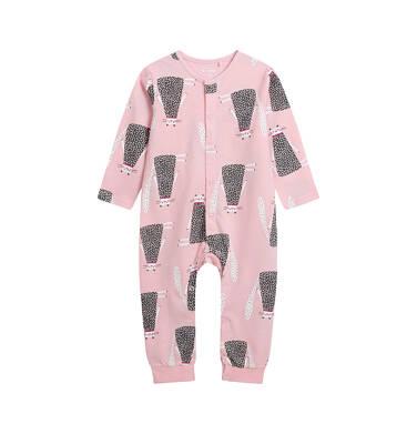 Endo - Pajac dla dziecka do 2 lat, deseń w koty, różowy N03N011_1 24