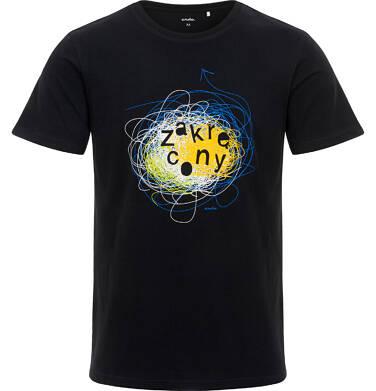 Endo - Męski T-shirt, z napisem zakręcony, czarny Q06G014_1 33