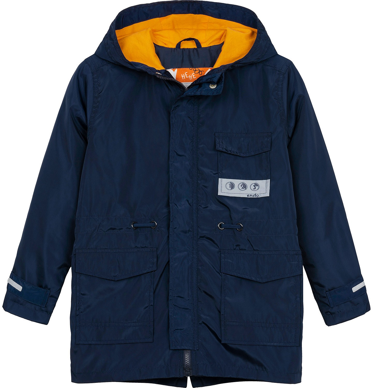 Endo - Ortalionowa kurtka parka dla chłopca 3-8 lat, granatowa C91A002_1