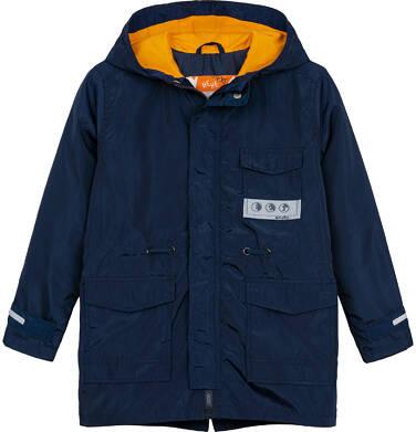 Endo - Ortalionowa kurtka parka dla chłopca 3-8 lat, granatowa C91A002_1,1