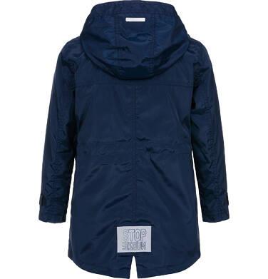 Endo - Ortalionowa kurtka parka dla chłopca 3-8 lat, granatowa C91A002_1,2