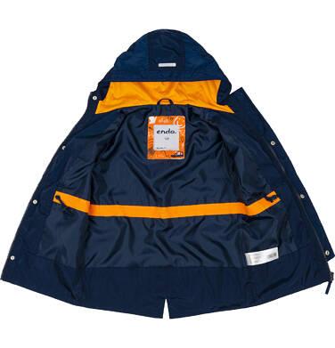 Endo - Ortalionowa kurtka parka dla chłopca 3-8 lat, granatowa C91A002_1,6