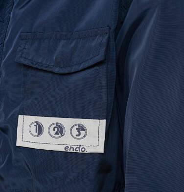 Endo - Ortalionowa kurtka parka dla chłopca 3-8 lat, granatowa C91A002_1,3