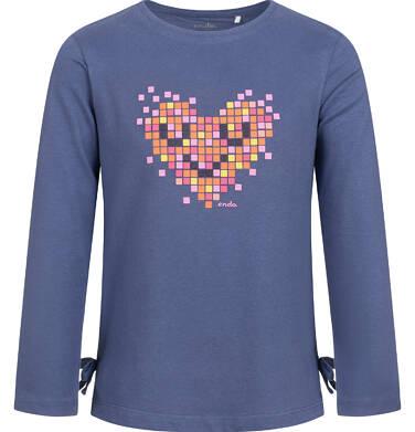 Endo - Bluzka z długim rękawem dla dziewczynki, z sercem, fioletowa, 2-8 lat D04G094_1 4