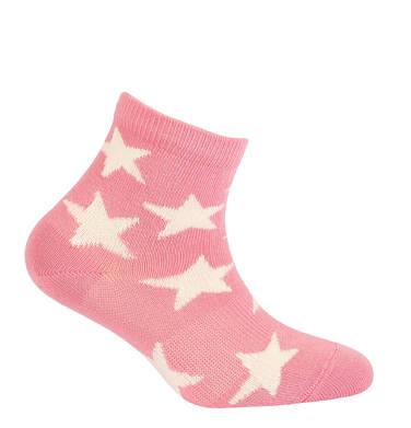 Endo - Różowe skarpetki dziecięce w gwiazdki D05P008_1 5