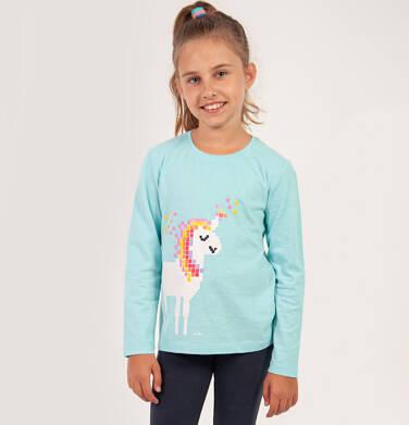 Endo - Bluzka z długim rękawem dla dziewczynki, z jednorożcem, niebieska, 2-8  lat D04G099_1 239