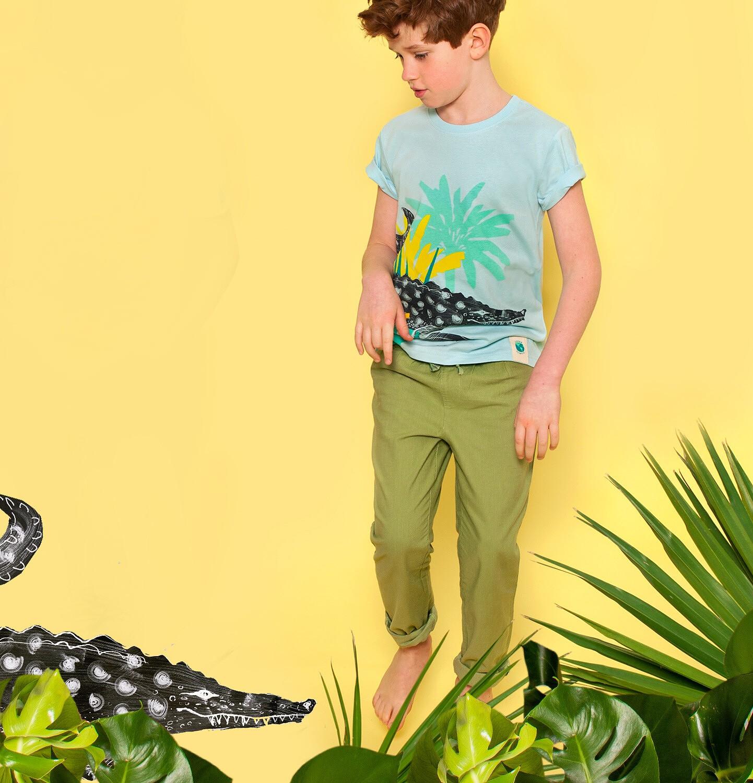 Endo - Spodnie dla chłopca, zielone, 2-8 lat C03K056_1