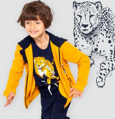 Endo - T-shirt z krótkim rękawem dla chłopca, z gepardem, granatowy, 3-8 lat C06G107_1 159