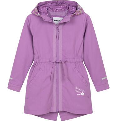 Endo - Przejściowa kurtka parka dla dziewczynki 3-8 lat, Dziewczyny rządzą, fioletowa D91A005_1