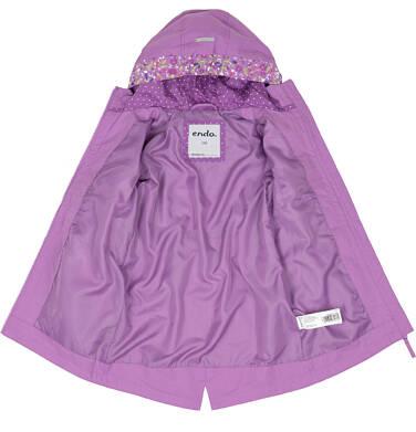 Endo - Przejściowa kurtka parka dla dziewczynki 9-13 lat, Dziewczyny rządzą, fioletowa D91A505_1