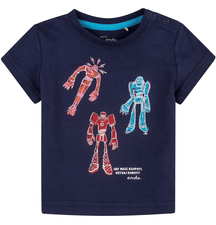 Endo - Bluzka z krótkim rękawem  dla dziecka 0-3 lat N71G100_2